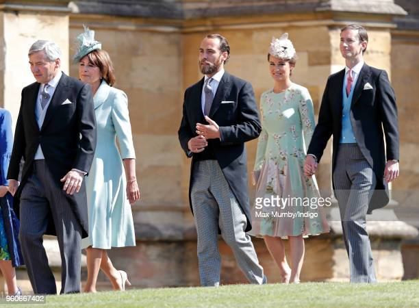Michael Middleton Carole Middleton James Middleton Pippa Middleton and James Matthews attend the wedding of Prince Harry to Ms Meghan Markle at St...