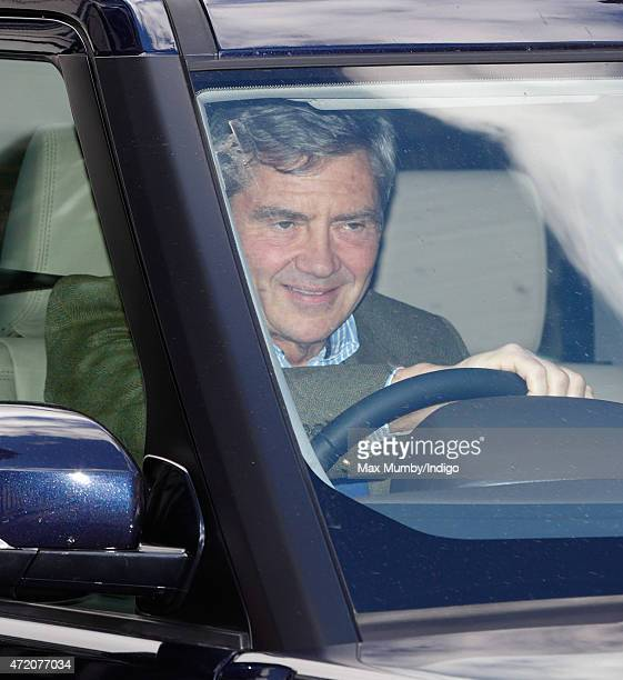 Michael Middleton leaves Kensington Palace after visiting his newborn granddaughter on May 3 2015 in London England The Duke Duchess of Cambridge's...