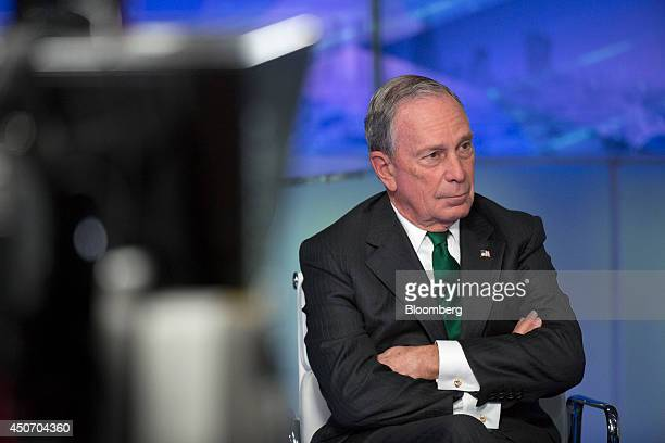Michael 'Mike' Bloomberg Bloomberg LP founder and former mayor of New York City listens during a Bloomberg Television interview in London UK on...