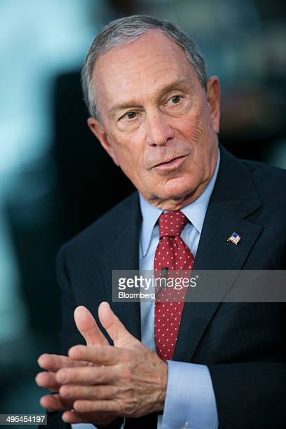 Michael 'Mike' Bloomberg Bloomberg LP founder and former mayor of New York City speaks during a Bloomberg Television interview with Lloyd Blankfein...