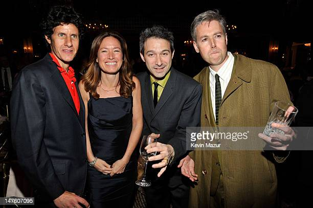 Michael 'Mike D' Diamond executive producer Rachael Horovitz Adam 'AdRock' Horovitz and Adam Yauch of The Beastie Boys attends the after party for...
