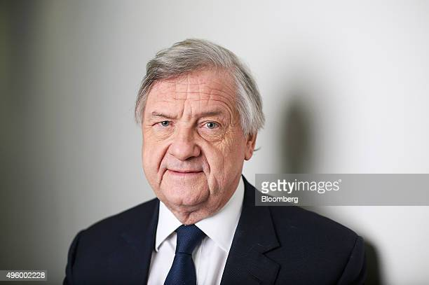 Michael 'Mike' Rake chairman of BT Group Plc and deputy chairman of Barclays Plc poses for a photograph following a Bloomberg Television interview in...