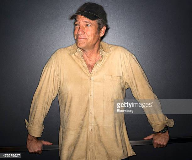 Michael 'Mike' Rowe former host of 'Dirty Jobs' stands for a photograph after a Bloomberg West Television interview in San Francisco California US on...