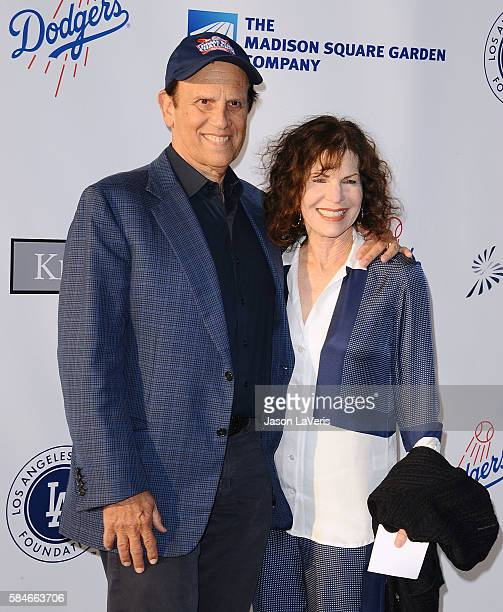 Michael Milken and wife Lori Anne Hackel attend the Los Angeles Dodgers Foundation Blue Diamond gala at Dodger Stadium on July 28 2016 in Los Angeles...