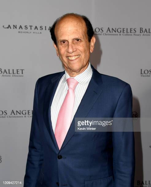 Michael Milken arrives at the Los Angeles Ballet Gala 2020 at The Broad Stage on February 28 2020 in Santa Monica California