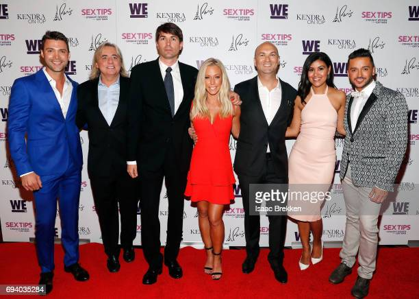 Michael Milton Shawn Nightengale Matt Murphy Adam Steck Kendra Wilkinson Adam Steck Bri Steck and Jai Rodriguez arrive at the premiere celebration...