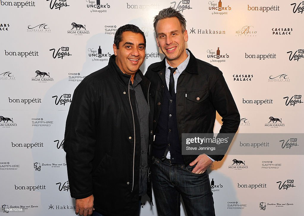 Michael Mina and Adam Rapoport (L-R) attend the Exclusive Preview of the 2013 Vegas Uncork'd By Bon Appetit at One Kearny Street on February 6, 2013 in San Francisco, California.