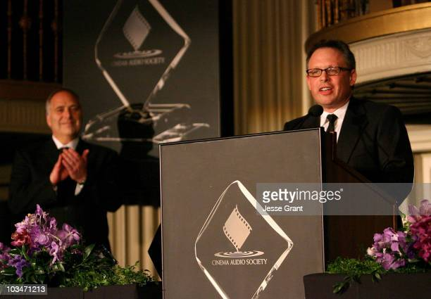 Michael Minkler CAS and filmmaker Bill Condon attend the 44th Annual Cinema Audio Society Awards at the Millennium Biltmore Hotel on February 16 2008...