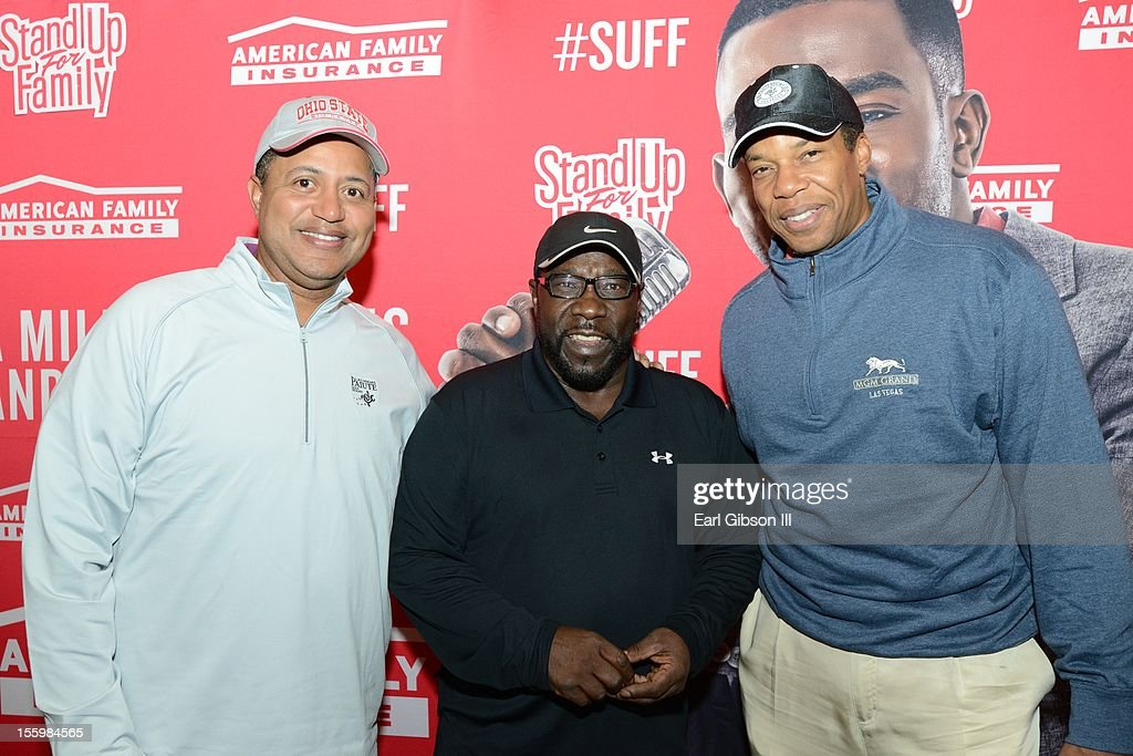 Michael Mitchell, Eddie Levert and Tony Cornelius pose for a photo at the First Annual Soul Train Celebrity Golf Invitational on November 9, 2012 in Las Vegas, Nevada.