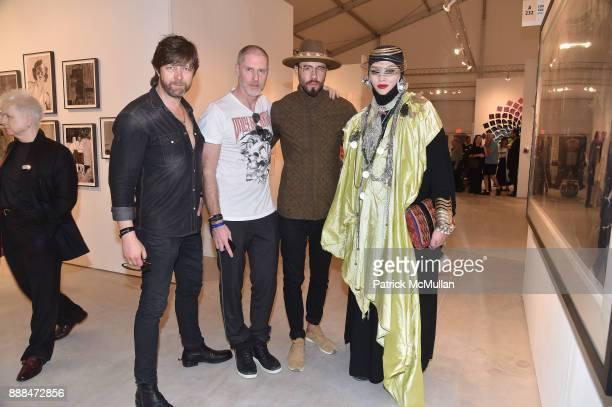 Michael Moebius Jean David Malat Mike Dargas and Daniel Lismore attend Art Miami VIP Preview at Art Miami Pavilion on December 6 2017 in Miami Beach...