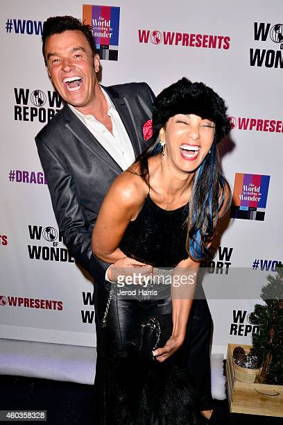 Michael Moloney and Downtown Julie Brown attend the World of Wonder Productions Red Carpet Holiday Drag Ball Extravaganza at Universal Studios...