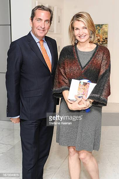 Michael Moore and Eliza Osborne attend attend Project Angel Food And CAA Celebrate ANGEL ART A Contemporary Art Auction Benefiting Project Angel Food...