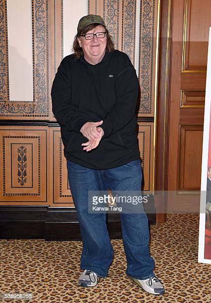 Michael Moore attends a photocall for the film 'Where To Invade Next' at the Lanesborough Hotel on June 9 2016 in London United Kingdom