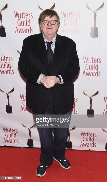 Michael Moore attends the 71st Annual Writers Guild Awards New York ceremony at Edison Ballroom on February 17 2019 in New York City