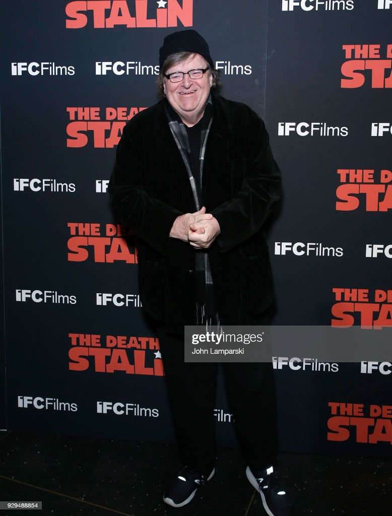 Michael Moore attends 'The Death Of Stalin' New York premiere at AMC Lincoln Square Theater on March 8, 2018 in New York City.