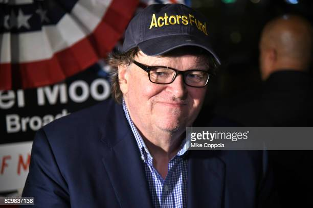 Michael Moore attends 'The Terms Of My Surrender' Broadway Opening Night After Party at Bryant Park Grill on August 10 2017 in New York City