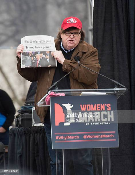 Michael Moore attends the Women's March on Washington on January 21 2017 in Washington DC