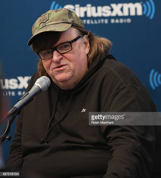 Michael Moore visits at SiriusXM Studios on November 13 2015 in New York City