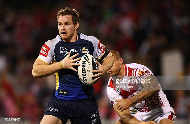 Michael Morgan of the Cowboys in action during the round 24 NRL match between the St George Illawarra Dragons and the North Queensland Cowboys at WIN...