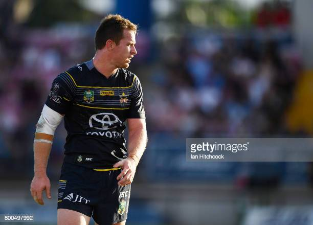 Michael Morgan of the Cowboys looks on during the round 16 NRL match between the North Queensland Cowboys and the Penrith Panthers at 1300SMILES...