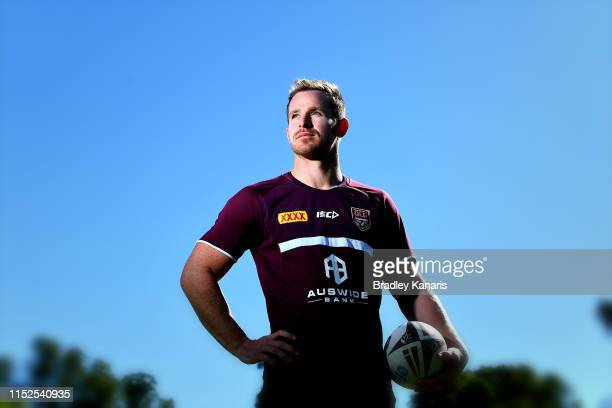 Michael Morgan poses for a photo during a Queensland Maroons State of Origin Training Session & Media Opportunity at Davies Park on May 30, 2019 in...