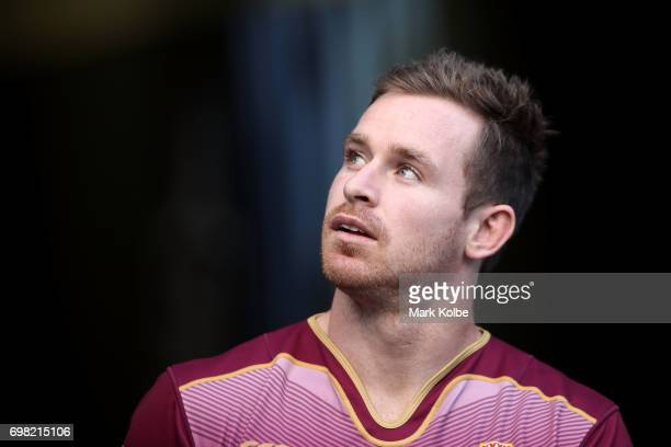 Michael Morgan walks out onto the field during a Queensland Maroons State of Origin captain's run at ANZ Stadium on June 20 2017 in Sydney Australia