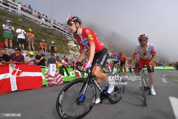 Michael Morkov of Denmark and Team Deceuninck - Quick-Step / Col de Tourmalet / Mountains / Fans / Public / Fog / during the 106th Tour de France...