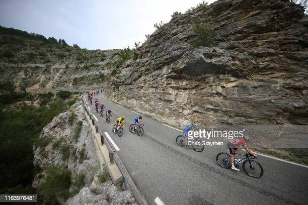 Michael Morkov of Denmark and Team Deceuninck QuickStep / Elia Viviani of Italy and Team Deceuninck QuickStep / Enric Mas of Spain and Team...
