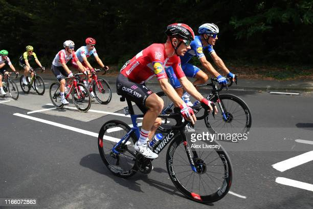 Michael Morkov of Denmark and Team Deceuninck - Quick-Step / Philippe Gilbert of Belgium and Team Deceuninck - Quick-Step / during the 8th Prudential...