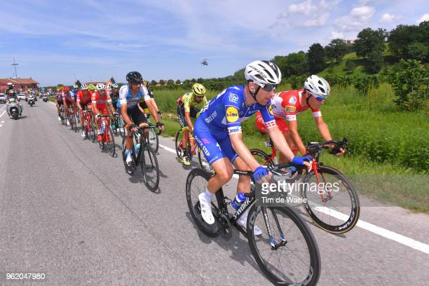 Michael Morkov of Denmark and Team Quick-Step Floors / Davide Ballerini of Italy and Team Androni Giocattoli-Sidermec / Ruben Plaza Molina of Spain...