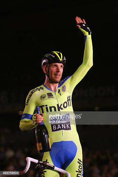 Michael Morkov of Denmark and TinkoffSaxo won the Elimination race round of the 1878 Cup during day one of the London Six Day Race at the Lee Valley...