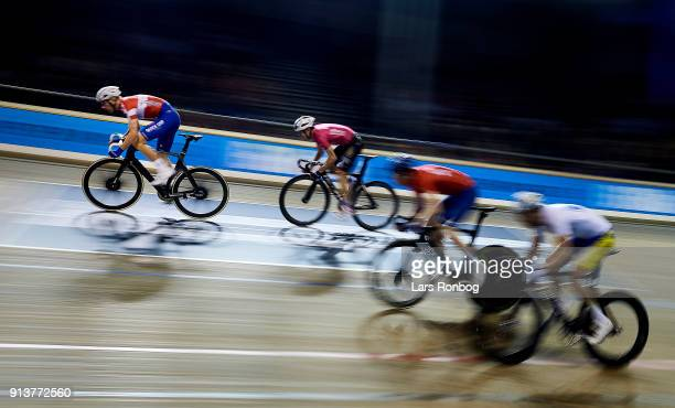 Michael Morkov of Denmark in action during day three of the Bilka Six Day Copenhagen bike race at Ballerup Super Arena on February 3 2018 in...
