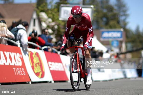Michael Morkov of Denmark riding for Team Katusha Alpecin rides during stage five of the AMGEN Tour of California from Ontario to Mt Baldy on May 18...