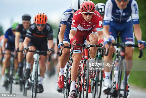 Michael Morkov of Team KATUSHA in action during the Elite Men Road Race Championships on day three of the Danish Cycling Championships on June 26...