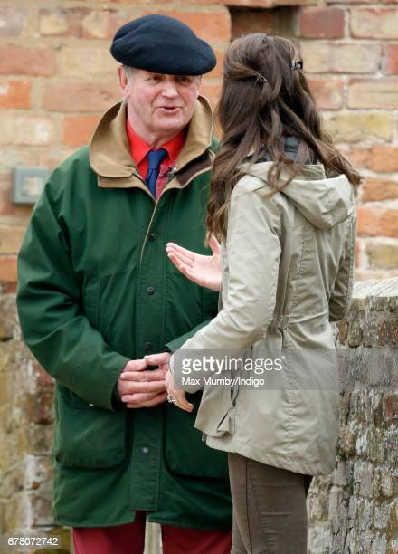 Michael Morpurgo accompanies Catherine Duchess of Cambridge as she visits Farms for City Children on May 3 2017 in Arlingham England Farms for City...