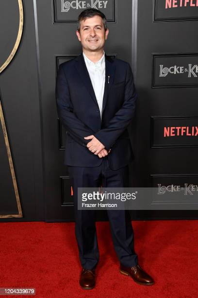 Michael Morris attends Netflix's Locke Key series premiere photo call at the Egyptian Theatre on February 05 2020 in Hollywood California