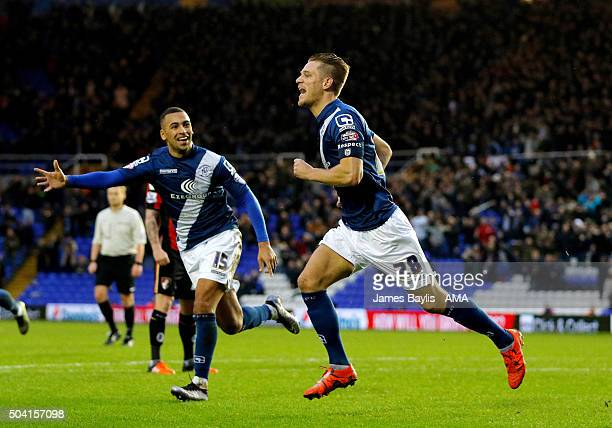 Michael Morrison of Birmingham City celebrates after scoring a goal to make it 10 during The Emirates FA Cup match between Birmingham City and AFC...