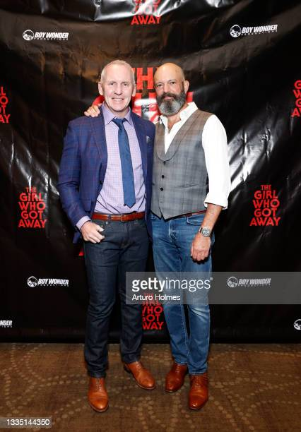Michael Morrissey and Geoffrey Cantor attend The Girl Who Got Away Film Premiere at AMC Theater on August 19, 2021 in New York City.
