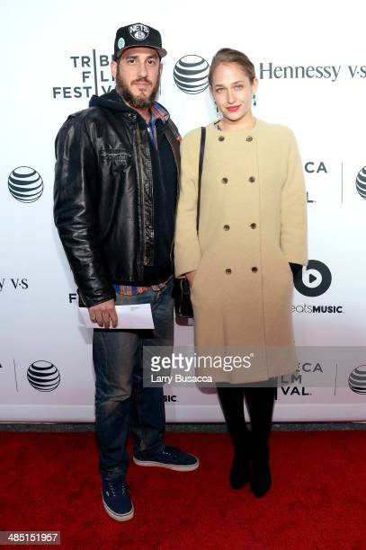 Michael Mosberg and Actress Jemima Kirke attend the 'Time Is Illmatic' Opening Night Premiere during the 2014 Tribeca Film Festival at The Beacon...