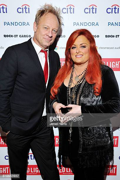 Michael Moser and Wynona Judd attend the Red Light Management Grammy after party presented by Citi at the Mondrian Hotel on February 15 2016 in Los...