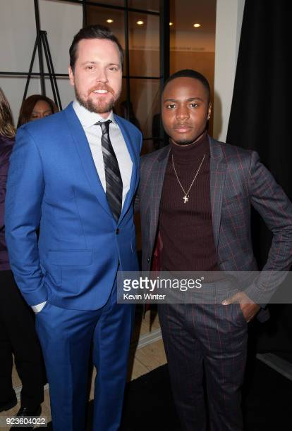Michael Mosley and Corey Champagne attend the premiere of Netflix's 'Seven Seconds' at The Paley Center for Media on February 23 2018 in Beverly...