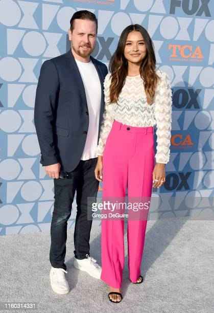 Michael Mosley and guest arrive at the FOX Summer TCA 2019 AllStar Party at Fox Studios on August 7 2019 in Los Angeles California