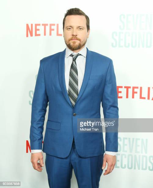 Michael Mosley arrives to the Los Angeles premiere of Netflix's 'Seven Seconds' held at The Paley Center for Media on February 23 2018 in Beverly...