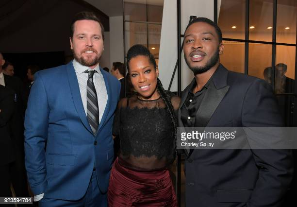 Michael Mosley Regina King and Zackary Momoh attend Netflix's 'Seven Seconds' Premiere screening and postreception in Beverly Hills CA on February 23...