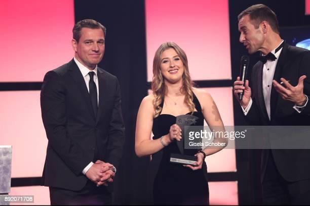 Michael Mronz and GinaMaria Schumacher daughter of of Michael Schumacher and Kai Pflaume during the Audi Generation Award 2017 at Hotel Bayerischer...