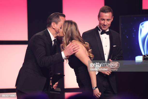 Michael Mronz and GinaMaria Schumacher daughter of of Michael Schumacher during the Audi Generation Award 2017 at Hotel Bayerischer Hof on December...