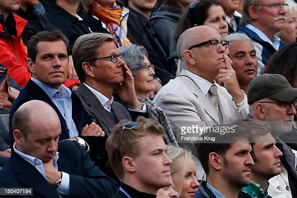 Michael Mronz Guido Westerwelle Nicoletta Peyran and her husband John Malkovich attend the 'Seefestspiele' Open With Carmen in the Wannseebad on...