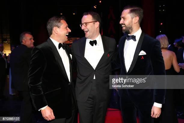 Michael Mronz Jens Spahn and his husband Daniel Funke during the aftershow party of the 24th Opera Gala benefit to Deutsche AidsStiftung at Deutsche...