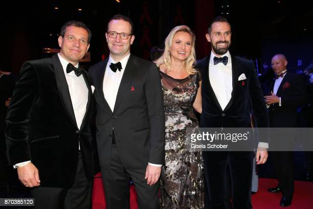 Michael Mronz Jens Spahn Carola Ferstl Daniel Funke during the aftershow party of the 24th Opera Gala benefit to Deutsche AidsStiftung at Deutsche...
