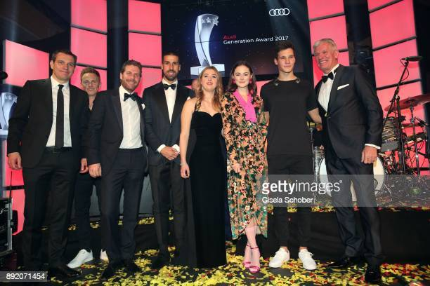 Michael Mronz Jochen Breyer Philip Greffenius Soccer player Sami Khedira GinaMaria Schumacher daughter of of Michael Schumacher and Lea van Acken...